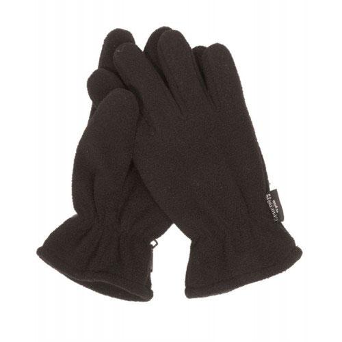 Перчатки флисовые зимние черные