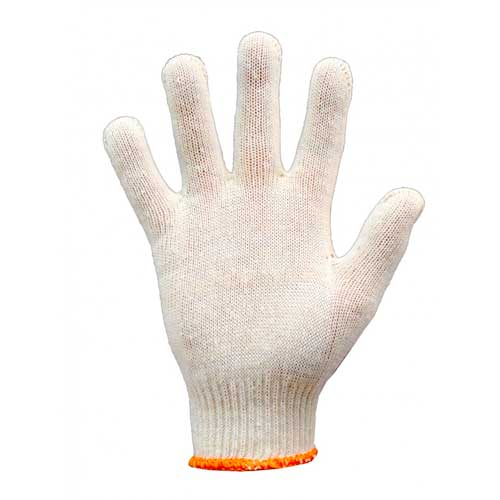 Перчатки трикотажные белые без ПВХ п-во Украина