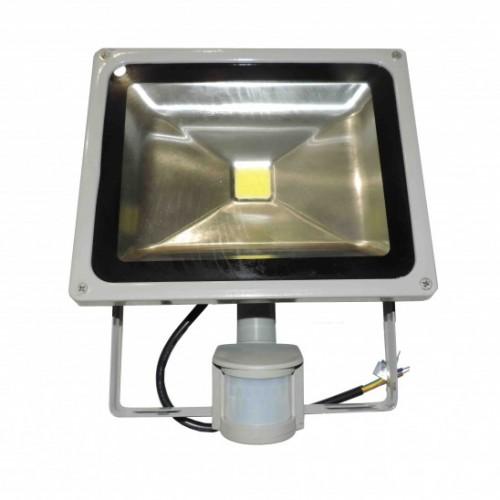 Прожектор LED 50w 6500K IP65 1LED LEMANSO серый с датчиком / LMPS50