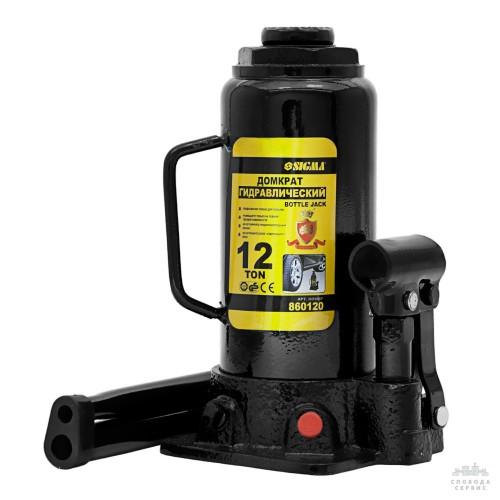 домкрат гидравлический бутылочный 12т H 230-465мм 6101121