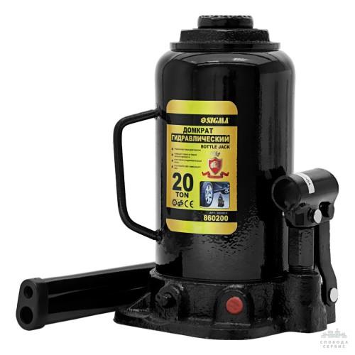 домкрат гидравлический бутылочный 20т H 242-452мм 6101201