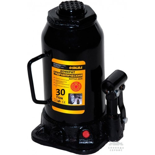 домкрат гидравлический бутылочный 30т H 285-465мм 6101301
