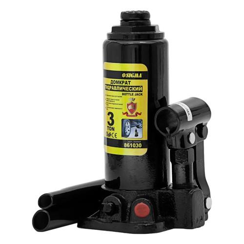 домкрат гидравлический бутылочный 3т H 194-372мм (кейс) 6102031