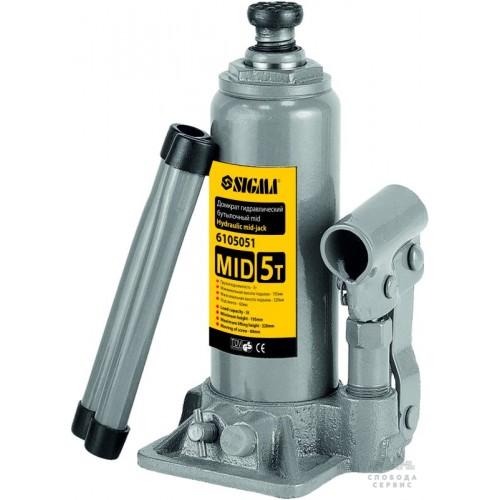 домкрат гидравлический бутылочный mid 4т H 180-350мм 610504