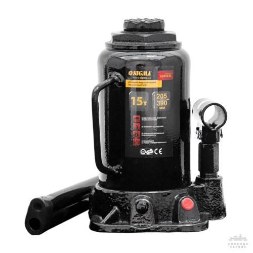 домкрат гидравлический бутылочный mid 15т H 205-390мм 6105151
