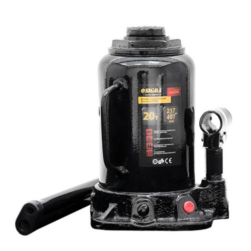 домкрат гидравлический бутылочный mid 20т H 217-407мм 6105201