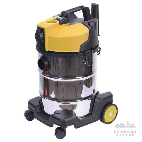 Пылесос строительный 1400Вт 3.2м3/мин 22КПа нержавеющий бак 30л VORTEX (5346483)