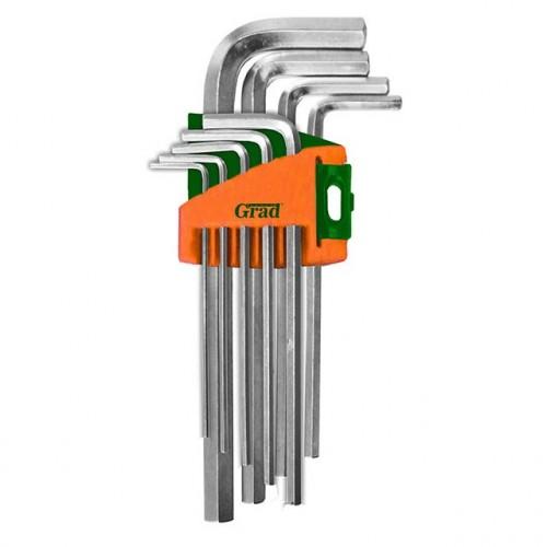 ключи шестигранные 9шт 1,5-10мм CrV (короткие) Grad 4022075