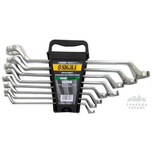 ключи накидные 8шт 6-22мм CrV satine 6010051