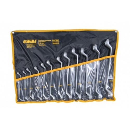 ключи накидные 12шт 6-32мм CrV satine (тк. чехол) 6010061