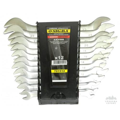 ключи рожковые 12шт 6-32мм CrV satine 6010331