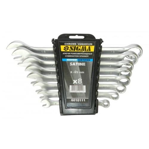 ключи рожково-накидные 8шт 6-19мм CrV polished 6010421