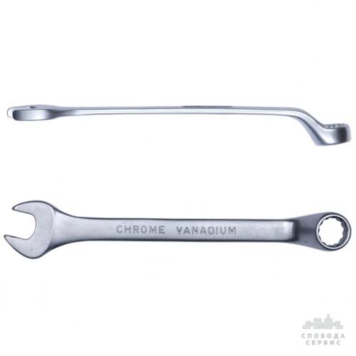 ключ рожково-накидной глубокий 32мм CrV satine 6024321