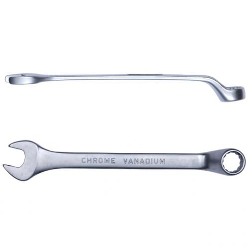 ключ рожково-накидной глубокий 15мм CrV satine 6024151