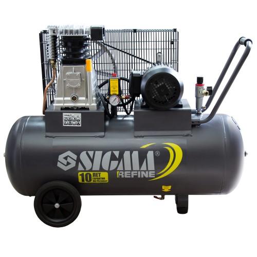 Компрессор ременной двухцилиндровый Sigma Refine (7044211)