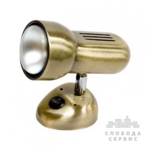 Спот Lemanso ST190-1 60W R50 E14 металл с выкл. античное золото